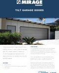 Mirage Tilt Garage Doors